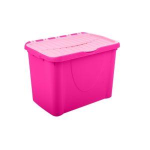 Form Flip Lid Pink 60L Plastic Storage Box