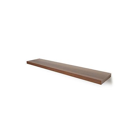 Natural Walnut Effect Floating Shelf L 1182mm D 237mm
