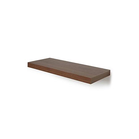 Natural Walnut Effect Floating Shelf L 602mm D 237mm