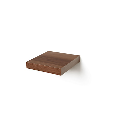 Natural Walnut Effect Floating Shelf L 237mm D 237mm