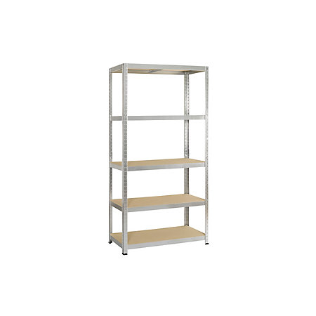 Avasco 5 tier metal shelving unit departments diy at b q - Peindre etagere bois ...