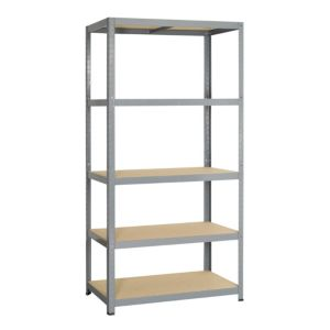 View B&Q 5 Shelf Chipboard & Steel Shelving Unit details