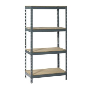 View Raxa Power 4 Shelf Chipboard & Steel Shelving Unit details