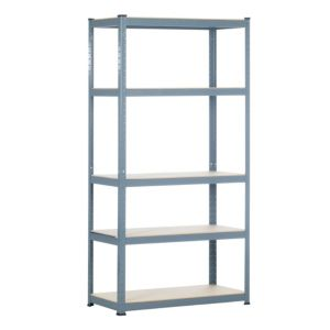 View Raxa Power 5 Shelf Chipboard & Steel Shelving Unit details