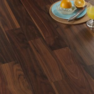 View Calando Walnut Effect Laminate Flooring 1.59 m² Pack details
