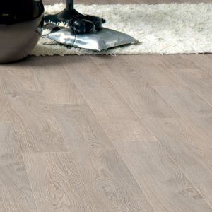 View Calando Light Grey Oak Effect Laminate Flooring 1.59 m² Pack details