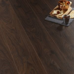 View Andante Dark Oak Effect Laminate Flooring 1.72 m² Pack details