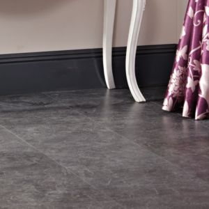 View Tila Black Slate Tile Effect Laminate Flooring 1 m² Pack details