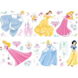 View Disney Princess Wall Stickers (L)700mm x (W)250mm details
