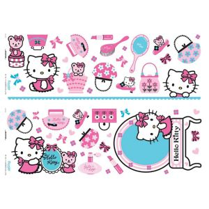 View Decofun Hello Kitty Self Adhesive Wall Stickers (L)700mm (W)250mm details