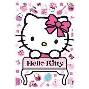 View Decofun Hello Kitty Self Adhesive Wall Stickers (L)1m (W)700mm details