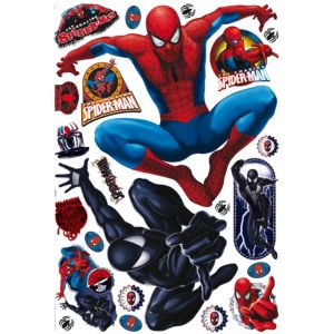 View Marvel Spiderman Wall Stickers (L)1m x (W)700mm details