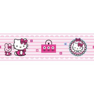 View Decofun Hello Kitty Pink & White Childrens Border details