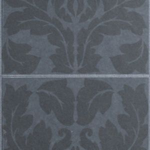 View Impala Damask Black Leather Effect Wallpaper details