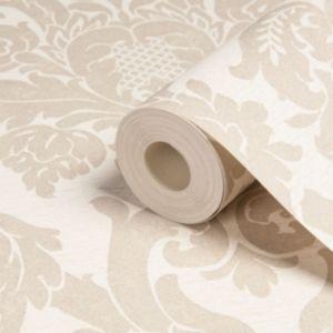 Kensington gold effect wallpaper departments diy at b q for Living room wallpaper b q