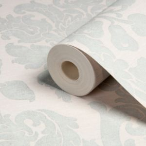 View Kensington Damask Gold Effect & Pearl Wallpaper details