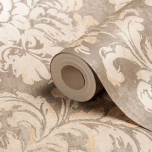 View Decadent Trail Motif Gold Effect Wallpaper details