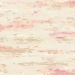 Image of Wall Fashion Painterly Pink Texture Metallic Wallpaper