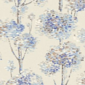 Image of Wall Fashion Painterly Blue Tree Wallpaper