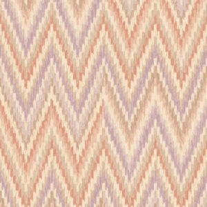 Image of Wall Fashion Origine Orange & purple Geometric Wallpaper