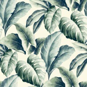Image of Gold Green Palm leaf Wallpaper
