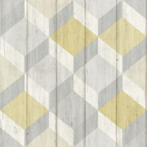 Image of Grandeco Copenhagen Yellow Geometric Wallpaper