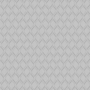 Image of Grandeco Boheme ogee Silver Geometric Glitter & mica Wallpaper