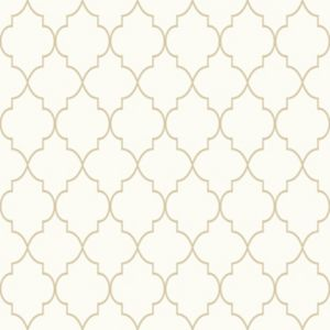 Image of Grandeco Deco trellis Geometric Gold & Metallic effect Wallpaper
