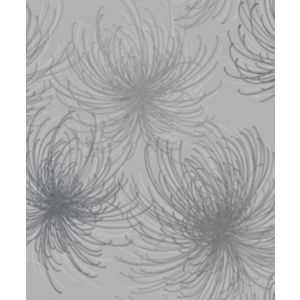 Image of Gold Cosmo Grey Floral Glitter effect Wallpaper