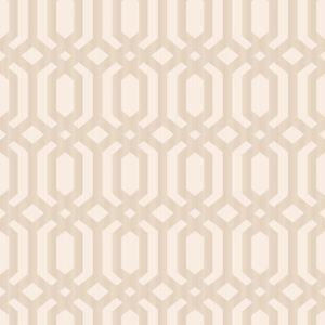 Image of Grandeco Kerala Blush & rose gold Geometric Metallic Wallpaper