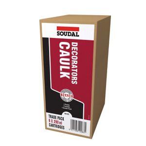 Image of Soudal 290ml White Decorators caulk Pack of 6