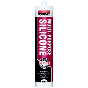 View Soudal White Silicone Multi-Purpose Sealant 300 ml details