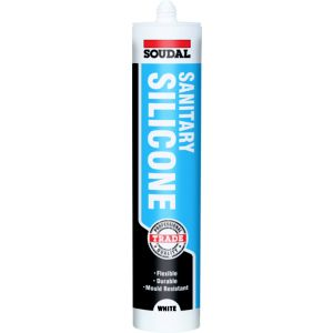 View Soudal White Silicone Plumbers Sanitary & Kitchen Sealant 300ml details