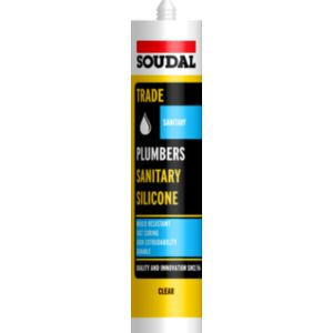 View Soudal Silicone Plumbers Sanitary & Kitchen Sealant 300ml details