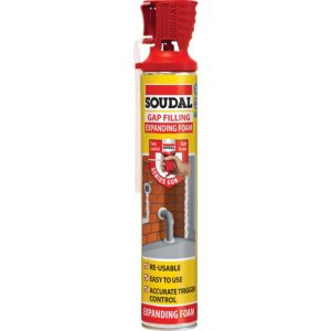 Image of Soudal Genius Champagne Gap filling expanding foam 750 ml