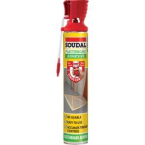 Image of Soudal Genius Gun Solvent free Plasterboard adhesive 0.75L