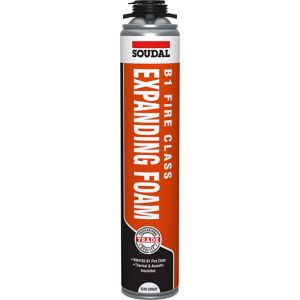 Image of Soudal Fire Rated Gun Grade Pink Expanding foam 750 ml