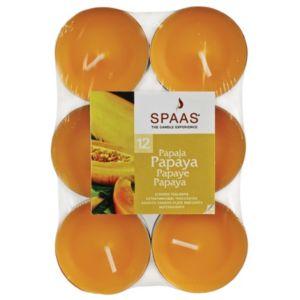 Image of Spaas Papaya Tealight Pack of 12
