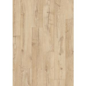 Aquanto Beige Oak effect Laminate flooring Sample
