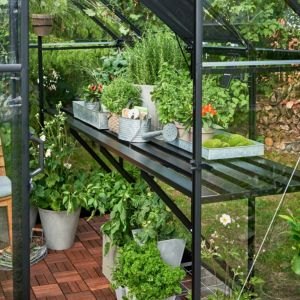 Image of Halls Qube 8ft Greenhouse staging