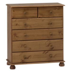 View Malmo Stained Pine 2 over 4 Drawer Chest (H) 901 mm (W) 823 mm details