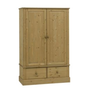 View Compton Stained Pine 2 Door 2 Drawer Wardrobe (H) 1.85 M (W) 1.195 M details