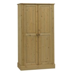 View Compton Stained Pine 2 Door Wardrobe (H) 1.85 M (W) 995 mm details