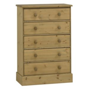 View Compton Stained Pine 5 Drawer Chest (H) 1.123 M (W) 755 mm details