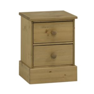View Compton Stained Pine 2 Drawer Bedside Chest (H) 547 mm (W) 415 mm details
