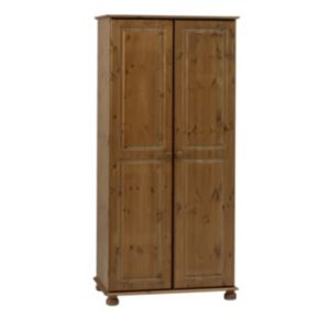 View Malmo Stained Pine 2 Door Wardrobe (H) 1.853 M (W) 883 mm details