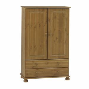 View Malmo Stained Pine 2 Door 2 Drawer Wardrobe (H) 1.373 M (W) 883 mm details