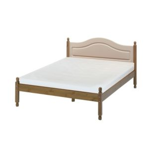View B&Q Double Cream Pine Bed Frame (H)935 mm (W)1.462 M (D)1.997 M details