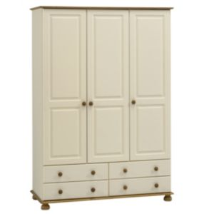 View Oslo Cream 3 Door 4 Drawer Wardrobe (H) 1.853 M (W) 1.296 M details