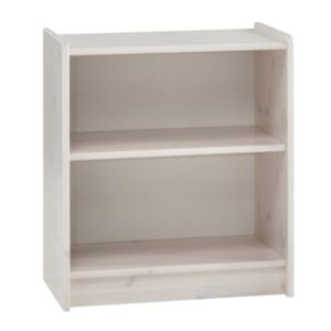 Image of Wizard White wash 1 Shelf Bookcase (H)720mm (W)640mm (D)380mm